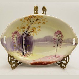 Vintage Nippon Hand Painted Candy Nut Trinket Dish